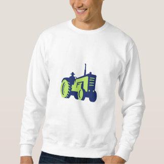Organic Farmer Driving Vintage Farm Tractor Sweatshirt