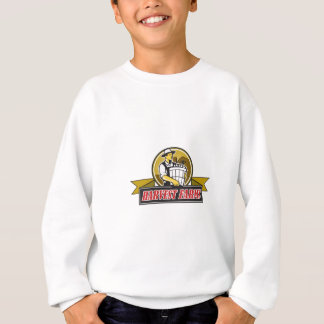 Organic Farmer Harvest Farms Circle Retro Sweatshirt