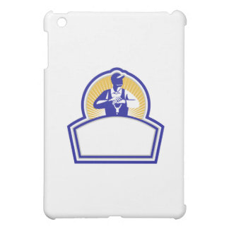 Organic Farmer Leaning Shovel Shield Retro Cover For The iPad Mini