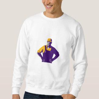 Organic Farmer Overalls Akimbo Retro Sweatshirt