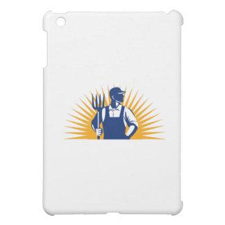 Organic Farmer Pitchfork Sunburst Retro iPad Mini Case