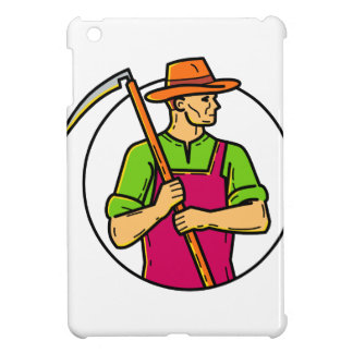 Organic Farmer Scythe Mono Line Art Case For The iPad Mini