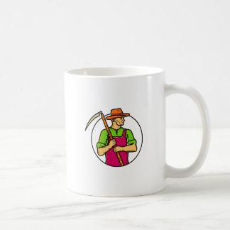 Organic Farmer Scythe Mono Line Art Coffee Mug