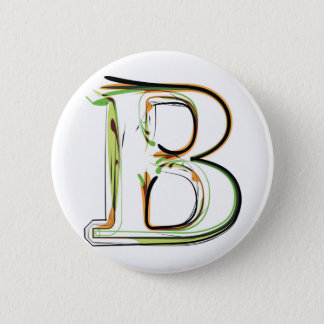 Organic Font illustration 2 Inch Round Button