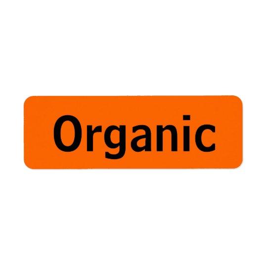 Organic Food Tags Orange