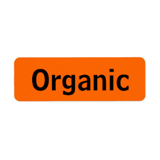 Organic Food Tags Orange Return Address Label