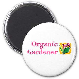 Organic Gardener - Calla Lilies 2 Inch Round Magnet