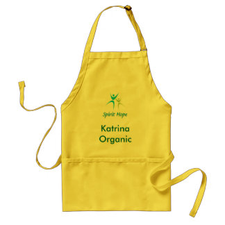 Organic Girl Logo Customize with your name Standard Apron