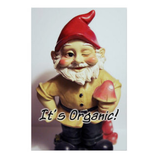 Organic Gnome Poster