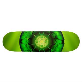 Organic Green Mandala Custom Skateboard