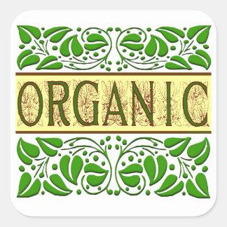 Organic Green Slogan Sticker
