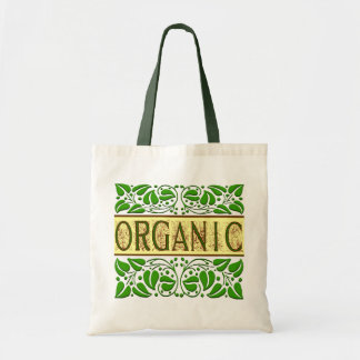 Organic Green Slogan Tote Bag