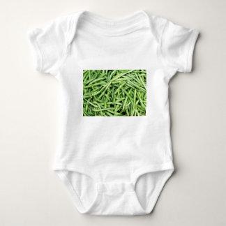 Organic Green Snap Beans Veggie Vegitarian Baby Bodysuit
