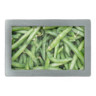 Organic Green Snap Beans Veggie Vegitarian Belt Buckle