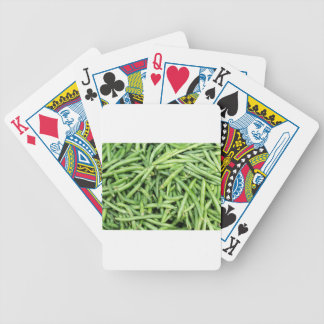 Organic Green Snap Beans Veggie Vegitarian Bicycle Playing Cards