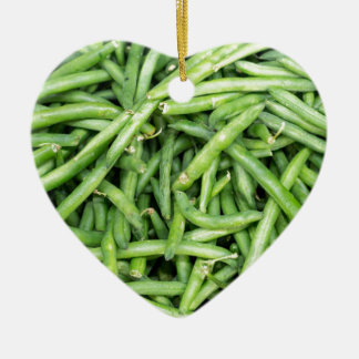 Organic Green Snap Beans Veggie Vegitarian Ceramic Ornament