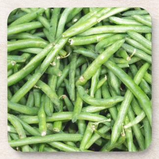 Organic Green Snap Beans Veggie Vegitarian Coaster