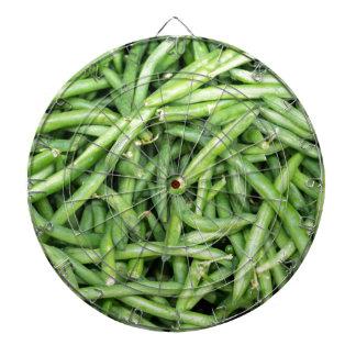 Organic Green Snap Beans Veggie Vegitarian Dartboard