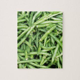 Organic Green Snap Beans Veggie Vegitarian Jigsaw Puzzle