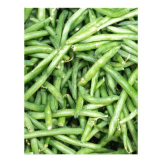 Organic Green Snap Beans Veggie Vegitarian Letterhead