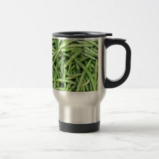 Organic Green Snap Beans Veggie Vegitarian Travel Mug
