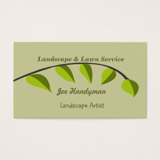 Organic   Green Tree Branch Business Card