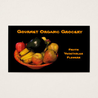 Organic Grocery Business Card