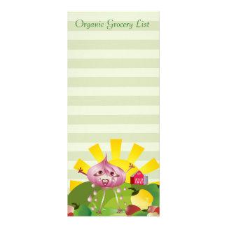 Organic Grocery List Rack Card