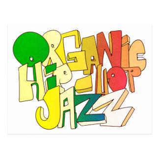 Organic Hip-Hop Jazz Postcard Design