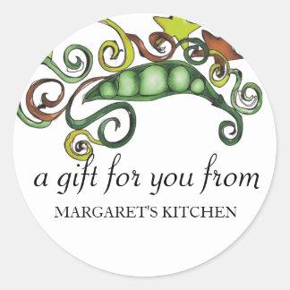 organic hippie peas vegan vegetarian gift tag s...