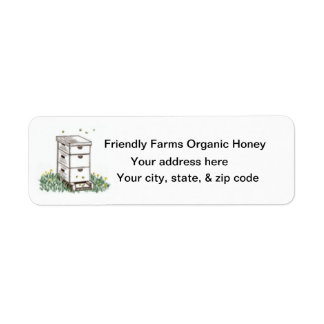 Organic Honey Cone Beekeeper  Return Label