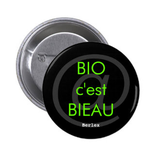 Organic it is Bieau 2 Inch Round Button