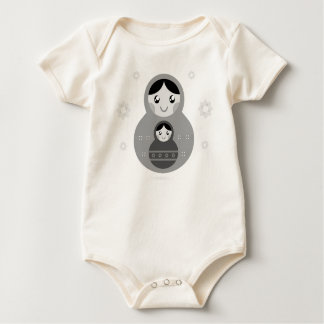 Organic kids baby body with Matroshka Baby Bodysuit