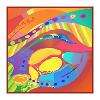 Organic Life Scan or Cellular Light - Blood Canvas Print