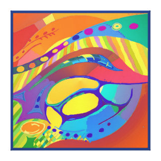 Organic Life Scan or Cellular Light - Blue Canvas Print