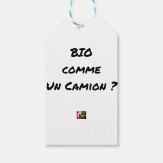 ORGANIC LIKE A TRUCK? - Word games Gift Tags