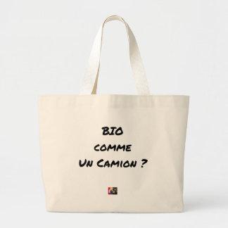 ORGANIC LIKE A TRUCK? - Word games Large Tote Bag