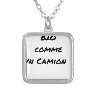 ORGANIC LIKE A TRUCK? - Word games Silver Plated Necklace