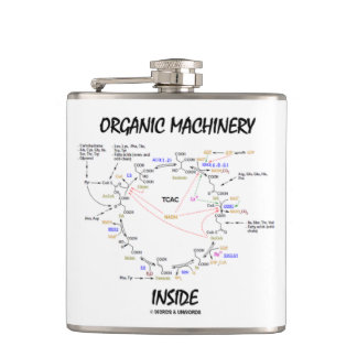 Organic Machinery Inside (Krebs Cycle) Hip Flask