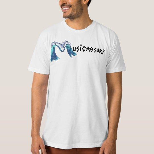 Organic Musicaesurf Branca T-Shirt