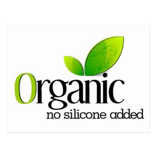 Organic - No Silicone Added Postcard