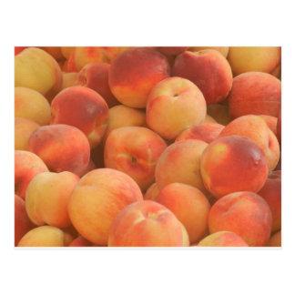 organic peaches postcard