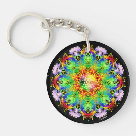 Organic Process/Inner Strength Double-Sided Round Acrylic Keychain