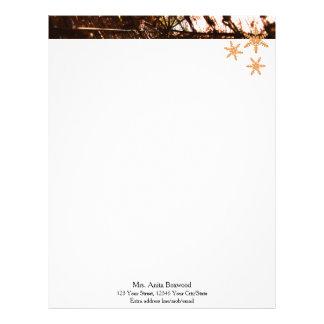 Organic Snowflakes Seasonal Christmas Custom Letterhead
