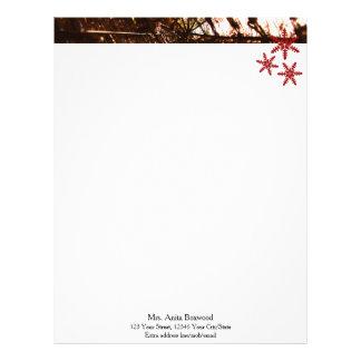 Organic Snowflakes Seasonal Christmas Letterhead Design
