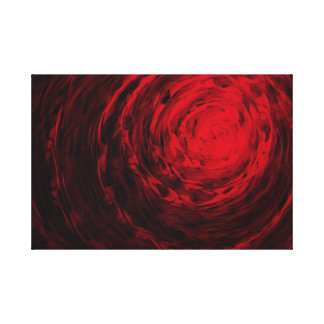 Organic Spiral Red - Canvas Print