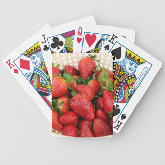 Organic Strawberries in a Colander Bicycle Playing Cards