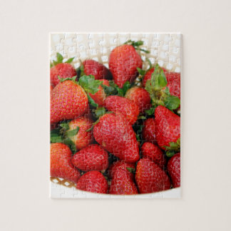 Organic Strawberries in a Colander Jigsaw Puzzle