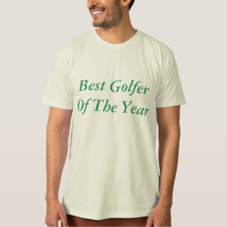 Organic T-Shirt, Natural golfer T-Shirt