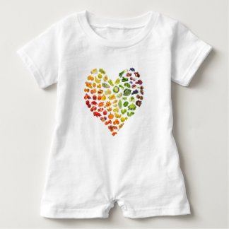 Organic Vegan Heart by Mini Brothers Baby Romper